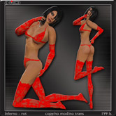 Lingerie Set *Inferno* - red